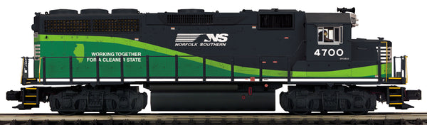 MTH Premier 20-20839-1 Norfolk Southern NS (ECO) GP-40 Diesel Engine w/Proto-Sound 3.0 (Hi-Rail Wheels) Cab No. 4700