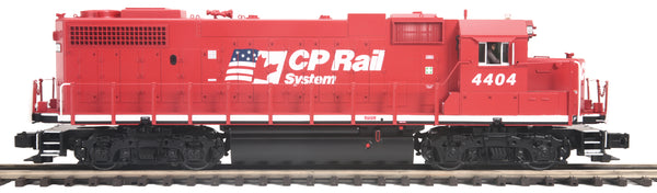 MTH Premier 20-20901-1 Canadian Pacific Rail CP GP38-2 Diesel Engine With Proto-Sound 3.0 (Hi-Rail Wheels) - Cab No. 4404