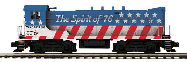 MTH Premier 20-21216-1 Youngstown Sheet & Tube VO 1000 Spirit of '76 Diesel Engine #806 with Proto Sound 3.0