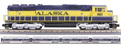 MTH Premier 20-2290-4 Alaska SD70M Diesel Engine Boxed Set - With Proto-Sound 2.0 Used