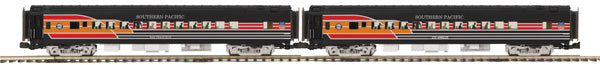 MTH Premier 20-69143 Southern Pacific SP Heritage 70' Coach Cars 2 Car set. San Francisco and Los Angeles