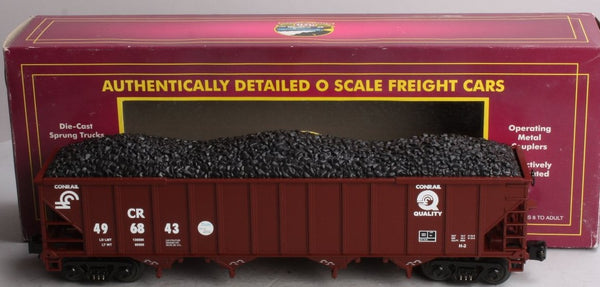 MTH Premier 20-90009D Conrail 4 Bay Hopper with Coal Load Used