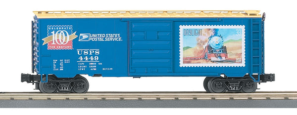 MTH Premier 20-93041 United States Postal Service USPS Century Series #3 40' Single Door Boxcar Daylight Train image