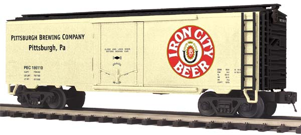 MTH Premier 20-94236 Iron City Operating Reefer Car No. 186110