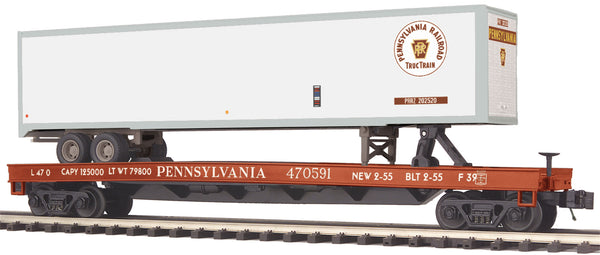 MTH Premier 20-95157 Pennsylvania Railroad PRR Flat Car w/48' Trailer
