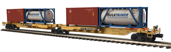 MTH Premier 20-95297 TTX Union Pacific UP 2-Car Spine Car Set w/(1) Tank Container (1) 20' Container - No. 653248, 653207