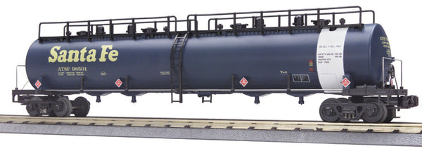MTH Premier 20-96024 Santa Fe 20K Gallon 4 Compartment Tank Car Used