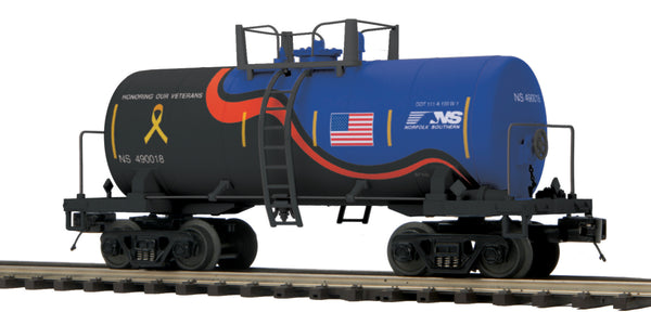 "MTH Premier 20-96741 Norfolk Southern NS  8000 Gallon Tank Car - Car No. 490018 ""Veterans"""