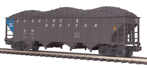 MTH Premier 20-97534 Reading & Northern 4-Bay Hopper Car w/Coal Load #7268