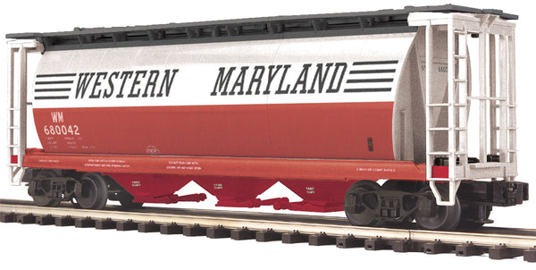 MTH Premier 20-97551 Western Maryland WM 3-Bay Cylindrical Hopper Car
