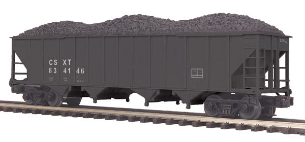 MTH Premier 20-97623 CSX 4-Bay Hopper Car w/Coal Load