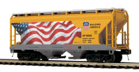 MTH Premier 20-97929 Union Pacific UP Flag 2-Bay Centerfow Hopper