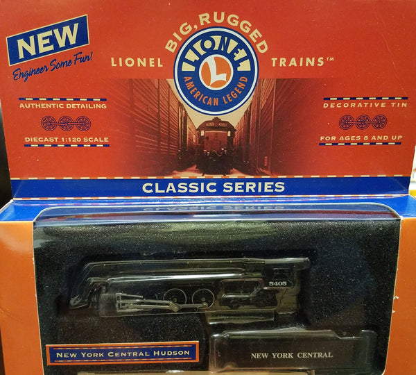 Lionel Series 1 Big Rugged Trains New York Central NYC Hudson Steam Engine Diecast Toy Engine 1:120 Scale in Decorative Tin