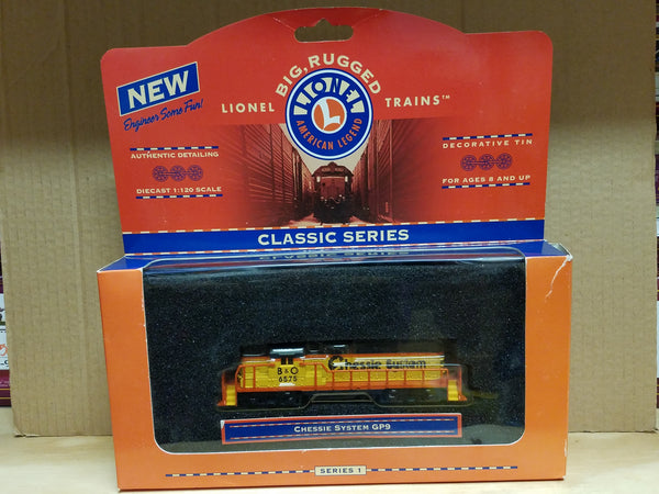 Lionel Series 1 Big Rugged Trains B&O Chessie System Railroad GP-9 Diecast Toy Engine 1:120 Scale in Decorative Tin
