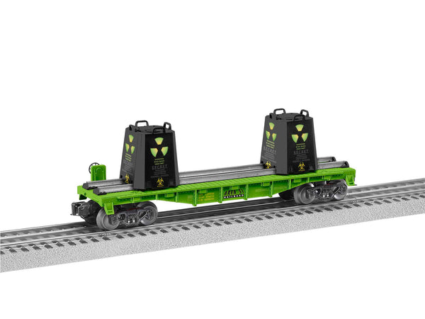 Lionel 2028320 Area 51 Radioactive Flat Car with containers Limited