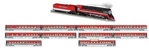 Lionel 2031510 Southern Pacific SP passenger cars, vistavision dome car and stationsounds diner limited