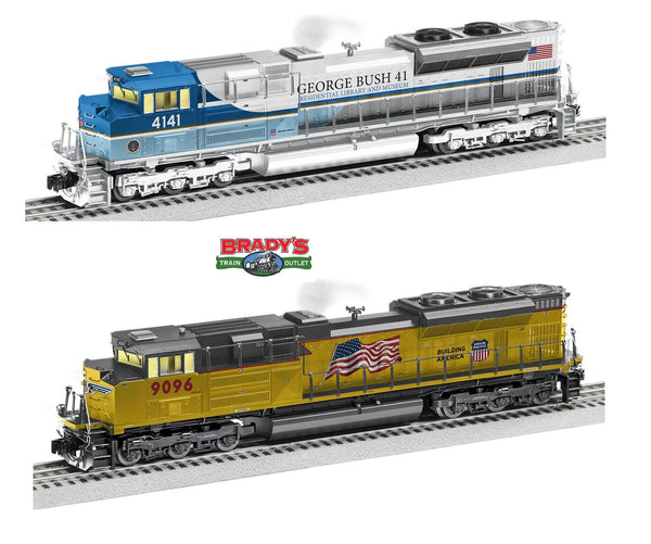 Lionel 2033310 Union Pacific UP SD70ACE #4141 George H. W. Bush Locomotive AND 2033321 Union Pacific UP LEGACY SD70AH #9096 #9096  President George Bush Funeral Train Locomotives