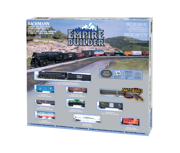 Bachmann 24009 Santa Fe Steam Engine 4-8-4 Northern Empire Builder N-Scale Train Set Ready to Run