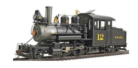 Bachmann 25494 Sandy River and Rangeley Lakes Railroad SR & RL On30 2-4-4 Forney (Sound)  - Outside Frame  w/Sound & DCC - Spectrum - HO Scale