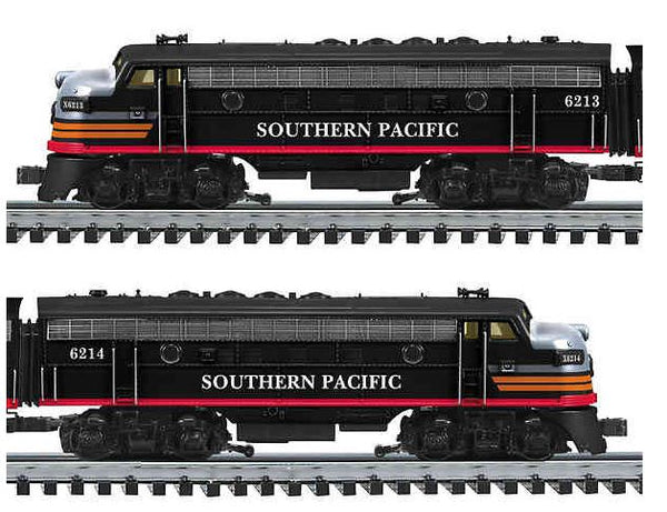 K-Line Southern Pacific SP Black Widow AA F-7 Diesels w/Lionel RailSounds, TMCC, Smoke & Electrocouplers Used