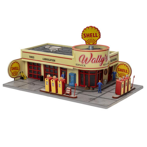 Menards 279-5017 Wally's Service Station Shell HO Gauge