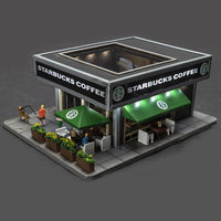 Menards 279-5040 Starbucks Coffee Shop HO Scale