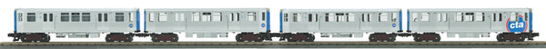 MTH 30-20576-1 Chicago Transit Authority (Silver) 3200 Series 4-Car Subway Set w/Proto-Sound 3.0 - Nos.3302, 3315, 3352, 3364