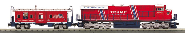 MTH 30-20799-1 ES44AC Imperial Diesel Engine & Caboose w/Proto Sound 3.0 Trump Pence Make America Great Again! PREORDER
