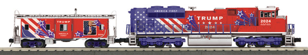 MTH 30-20824-1 Donald J. Trump (2024) SD70ACe Imperial Diesel & Caboose Set With Proto-Sound 3.0 PREORDER Limited