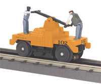 MTH 30-2547 Operating Hand Car - Maintenance Of Way M.O.W - Orange w/(2) figures