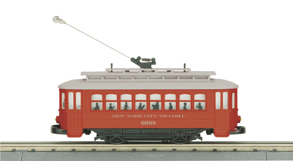 MTH 30-2596 New York Transit Bump-n-Go Trolley No 6688 Store Display