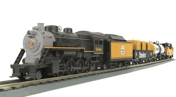 MTH 30-4127-1 Pittsburgh Steelers 2-8-0 Steam Locomotive R-T-R Train Set w/Proto-Sound 2.0 O Scale Limited