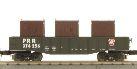 MTH 30-4136B Pennsylvania Railroad PRR Gondola with three LCL Containers