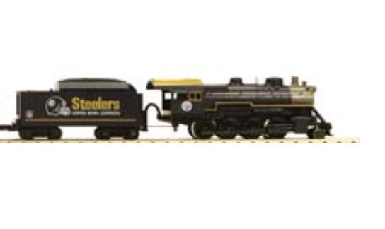 MTH 30-4203-1E Pittsburgh Steelers 2-8-0 Steam Engine with Proto Sound 2.0