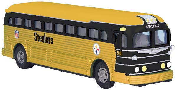 MTH 30-50045 Pittsburgh Steelers Bus Heinz Field Yellow