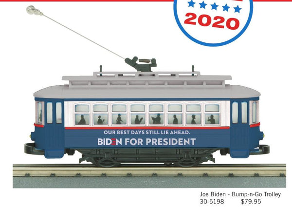 MTH 30-5198 Joe Biden Bump-n-Go Trolley PREORDER