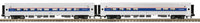 MTH 30-6520 Amtrak 2-Car O-31 Amfleet Coach Set #25030 & 25111