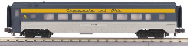 MTH 30-67448 Chesapeake & Ohio C&O 60' Streamlined ABS Coach Car - 1628