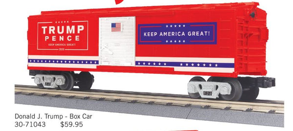 MTH 30-71043 Donald J. Trump Boxcar Trump Pence Keep America Great PREORDER