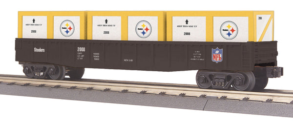 MTH 30-72013 Pittsburgh Steelers Gondola with Crates NFL