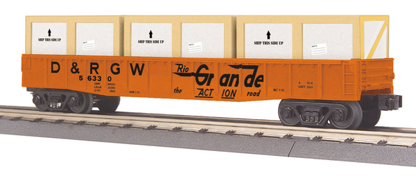 MTH 30-72177 Denver & Rio Grande Gondola Car with Crates