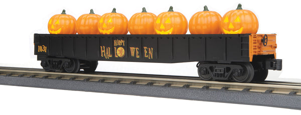 MTH 30-72192 Halloween Gondola Car w/Flickering Lighted Jack-O-Lanterns