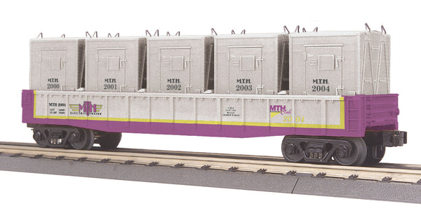 MTH 30-7267 MTHRRC Car No. 2004 Gondola Car w/LCL Containers (5)