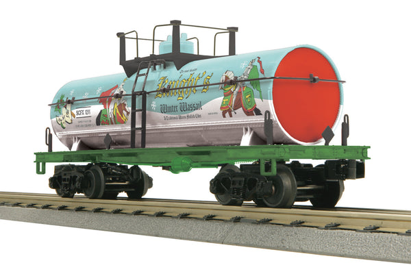 MTH 30-73353 Knight's Winter Wassail Smoking Tank Car