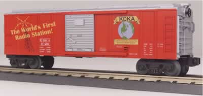 MTH 30-74089 KDKA Pittsburgh Radio Station Box Car Oval Logo