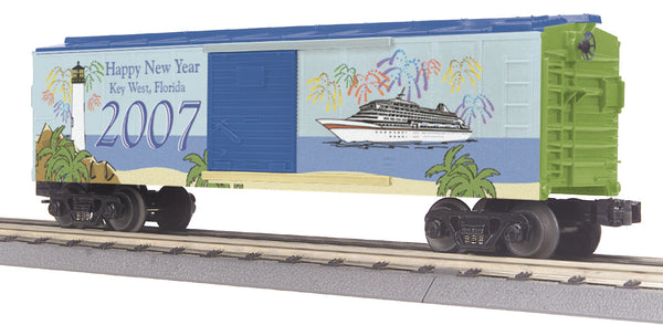 MTH 30-74358 Happy New Year 2007 Boxcar - Key West Florida