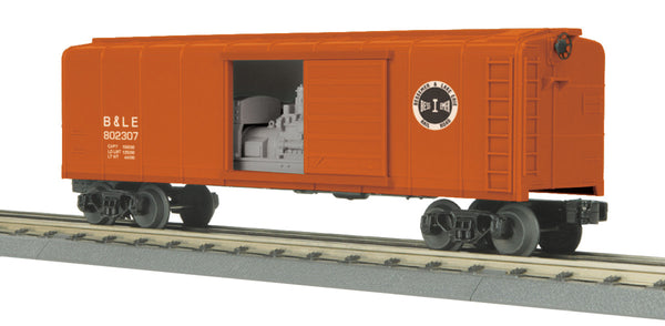 MTH 30-74627 Bessemer & Lake Erie B&LE Rounded Roof Box Car w/Generator - Car No. 802307