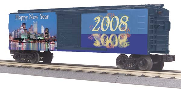 MTH 30-74461 Pittsburgh 2008 Happy New Year Boxcar