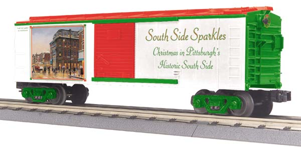 MTH 30-74462 Pittsburgh Pennsylvania (PA) Christmas 2007 Boxcar South Side Sparkles