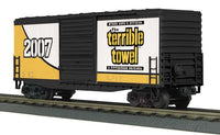 MTH 30-74465 Pittsburgh Steelers 40' High Cube Boxcar Terrible Towel